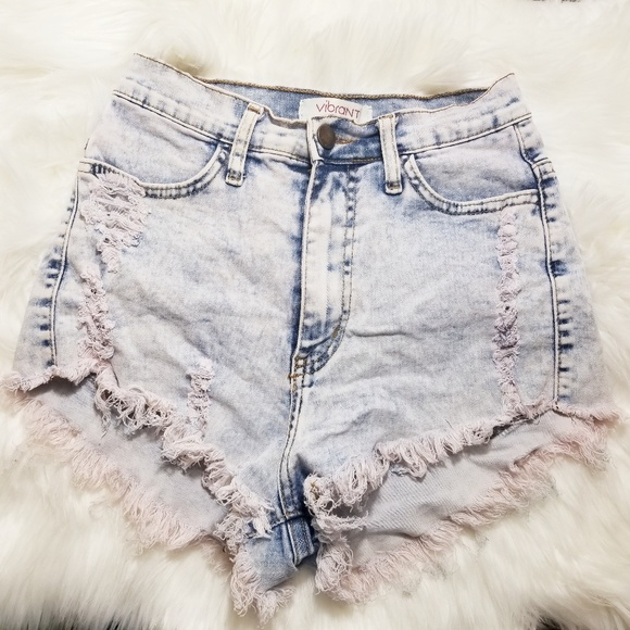 b289ededa3 Vibrant M.I.U | Denim Distressed Shorts